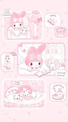 Pink Wallpaper Anime, Hello Kitty Iphone Wallpaper, My Melody Wallpaper, Sanrio Wallpaper, Cute Pastel Wallpaper, Soft Wallpaper, Cute Patterns Wallpaper, Aesthetic Pastel Wallpaper, Kawaii Wallpaper