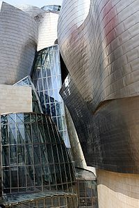 The Guggenheim Museum Bilbao is a museum of modern and contemporary art, designed by Canadian-American architect Frank Gehry, and located in Bilbao, Basque Country, Spain. The museum was inaugurated on October 18, 1997, by King Juan Carlos I of Spain.