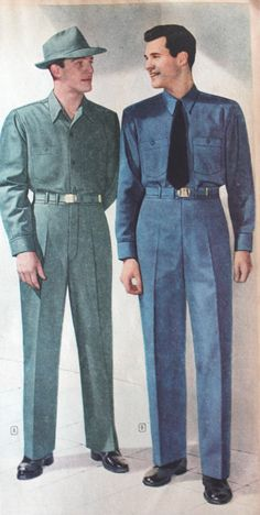 1940s working men's clothing