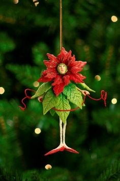 """7"""" Patience Brewster Krinkles Poinsettia Girl Christmas Ornament * Want to know more, click on the image. (This is an affiliate link) #Ornaments"""