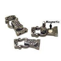 Fold over Gun Metal Magnetic clasps closures1213blk