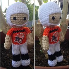 Ravelry: Football Player Doll (CFL) pattern by A Craft Thing
