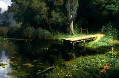 Vasily Polenov – The Tretyakov Gallery. Заросший пруд/Overgrown Pond (1879)