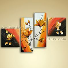 3 Piece Canvas Art, 3 Piece Painting, Small Canvas Paintings, Easy Canvas Painting, Mini Canvas Art, Acrylic Canvas, Abstract Tree Painting, Kerala Mural Painting, Tree Wall Art
