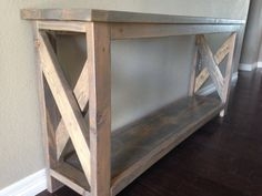 Custom Entry Way; Sofa Table solid wood pine chevron furniture interior design decor home rustic chic handmade