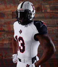I don't ordinarily like Texas Tech Red Raiders football uniforms, but these special edition unis are cool.