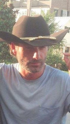 Andrew Lincoln ❤ What is it about cowboy hats that make me fall in love?