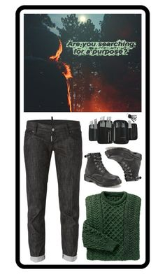 """Untitled #2228"" by wendimorrison ❤ liked on Polyvore featuring Dsquared2 and Dr. Martens"