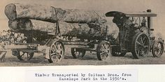Timber transported by Coltman Brothers,from Hanslope Park in the Milton Keynes, Steam Engine, English Countryside, 1930s, Tractors, Transportation, Beautiful Places, Old Things, Park