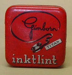 Schrijfmachinelint van H. van Gimborn N.V. Zevenaar ca. 1950