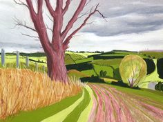 Above Bywell, Northumberland Pastel on paper Cornelia FitzRoy http://www.corneliafitzroy.co.uk/