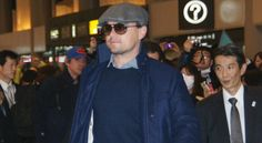 Leonardo DiCaprio arrives at the Narita Airport Japan on Friday, 1 March 2013.