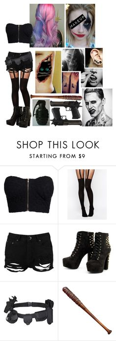 """""""Karmin when she's out w/ Joker"""" by winniemjones ❤ liked on Polyvore featuring NLY Trend, ASOS, Boohoo, CO, American Eagle Outfitters and Lucille"""