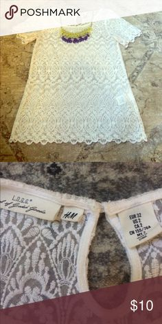 H&M Lace Blouse Excellent condition - the top is sheer so you will need to wear a cami with it! H&M Tops Blouses