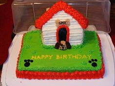 pinapple cake with pinapple filling and butter cream icing. Pinapple Cake, Dog Houses, House Dog, House Cake, Sweet Pastries, Happy Birthday, Birthday Cakes, Birthday Ideas, Dog Boarding