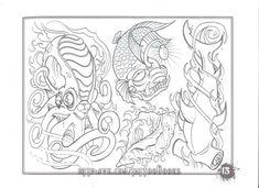 All Or Nothing Tattoo sketchbook Tattoo Drawings, Body Art Tattoos, Art Drawings, Tattoo Art, Paradise Tattoo, Gangsta's Paradise, Boog Tattoo, Sacred Heart Tattoos, Flash Art