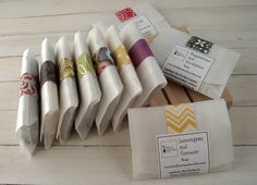 Soap Samples - Handmade All Natural Cold Process Soaps - with Essential Oils - Choose 5 Samples. $7.50, via Etsy.