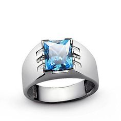 Mens Ring Blue TOPAZ GEMSTONE and DIAMONDS in Solid 925 Sterling Silver All Sz #ebay #mensring #vintage #vintagejewelry #sterlingring #ring #mensjewelry #mensfashion #epiconetsy #menstyle #giftforhim #etsy #jewelry #fashion #diamond #gift #shopping #deals #menswear #mensstyle #free #win #goldring #silverring #pictureoftheday #gifts