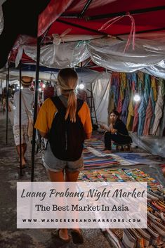 Luang Prabang night market, in our opinion, is one of the best markets in Asia. So here's all you need to know when visiting the authentic shopping street. Laos Travel, Asia Travel, Wanderlust Travel, Travel Guides, Travel Tips, Travel Plan, Travel Destinations, Thing 1, Luang Prabang