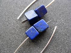 lapis earrings. cobalt blue earring. lapis lazuli by Splurge