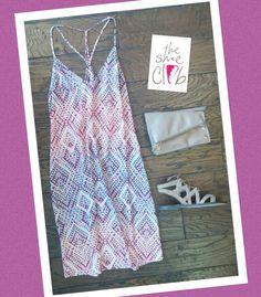 Love this for a dinner or beach vacation  Charlie Jade Dress $155 Hammitt Curtis $250 Sam Edelman Gemma $100 ☎️ 210-824-9988