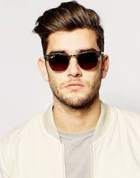 ee0f213d67 Shop Ray-Ban Clubmaster Polarised Foldable Sunglasses at ASOS.