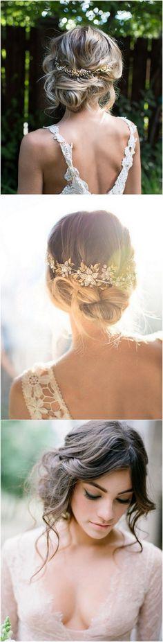 #weddinghairstyle #weddinghair #bohowedding #weddingideas #weddinginspiration boho chic updo wedding hairstyle 2