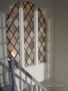 Stained glass window inside the Dollhouse.