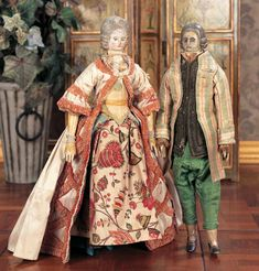 """Possessions of a lady - an 18th century obsession: Preview """"A later pair of French Court Dolls"""""""