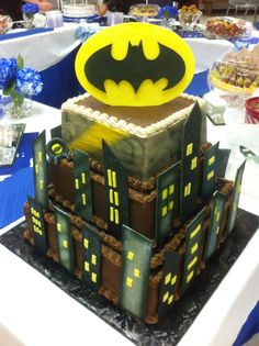 Batman Grooms Cake Wedding Cakes Pinterest Batman grooms cake