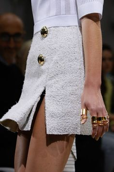 Balenciaga Spring 2013 - please note the wonderful rings!