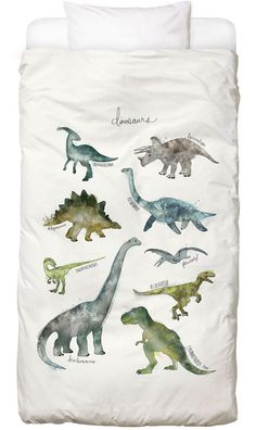 Dinosaurs als Kinderdekbedovertrekset door Amy Hamilton | JUNIQE