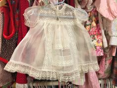 1950s Sheer Baby Dress 6/9 Months by lishyloo on Etsy