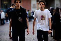bieber fashion: Gosha Rubchinskiy x Adidas Track Pants in Black…
