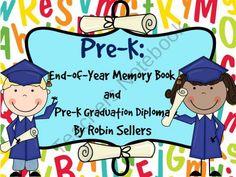 Preschool Graduation Diplomas and Preschool Memory Book Pre-K Version Too from Sweet Tea Classroom on TeachersNotebook.com (35 pages)  - Pre-K Memory Book, Pre-K Graduation Diploma, and Pre-K Graduation Invitation Fun for Your Preschoolers