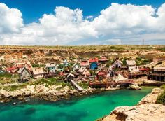 Popeye Village, located at Anchor Bay in the north-west corner of the Mediterranean island of Malta.