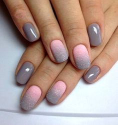 Nail art is a very popular trend these days and every woman you meet seems to have beautiful nails. It used to be that women would just go get a manicure or pedicure to get their nails trimmed and shaped with just a few coats of plain nail polish. Gel Nail Art Designs, Winter Nail Designs, Unique Nail Designs, Grey Nail Designs, Acrylic Nails Designs Short, Nail Design For Short Nails, Nail Designs Easy Diy, Colorful Nail Designs, Diy Ongles