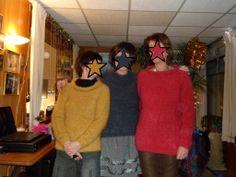 3 filles, 3 pulls... Halloween Face Makeup, Knits, Daughters