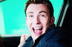 Chris Evans in the Captain America: The Winter Soldier gag reel