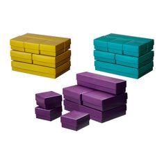 VAMMEN Kasten mit Deckel 7er-Set IKEA Gut geeignet zum Verwahren von Schreibtischzubehör, Haarspangen, Schmuck und anderen Kleinteilen.