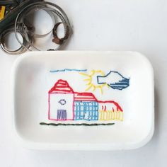 Sewing projects for kids, tray for bananas (italian blog).