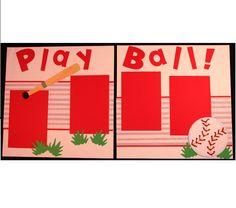 baseball premade Scrapbook page kit