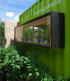 Welcome hut made from shipping container - good potting shed???