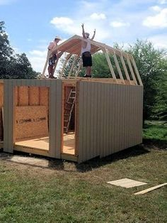 Making Your Own Pole Shed From Blueprints - Check Out THE PIC for Lots of Storage Shed Plans DIY. 23894296 #shed #woodshedplans