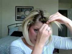 French braided bangs how to. I have been doing this for the past few days and I love it. -why the fuck does my hair never look like this cute? My Hairstyle, Pretty Hairstyles, Easy Hairstyles, French Braided Bangs, Tips Belleza, Great Hair, Hair Today, Hair Dos, Hair Hacks