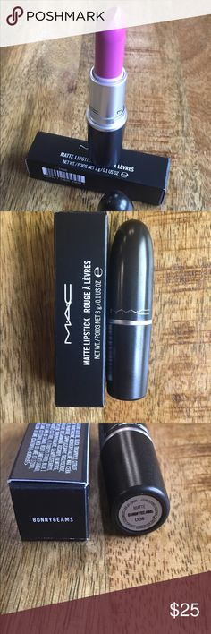 Mac lipstick  This item is new and in original box. Has never been used or touched. Beautiful creamy lavender pink. Can be deepened with dark burgundy lip liner or can be made lighter by adding lighter gloss on top. MAC Cosmetics Makeup Lipstick
