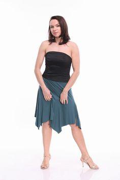 Tango Skirt Tango Clothes in Teal Tango Clothing in Custom
