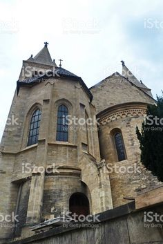 Detail of St. George Basilica in Prague foto stock royalty-free