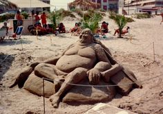 Escultura de Arena Playa Canet de Berenguer -Valencia