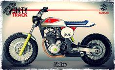 SUZUKI DR # TRACKER # SPECIAL SCRAMBLER # CAFE RACER Dr 650, Scrambler Custom, Scrambler Motorcycle, Custom Street Bikes, Custom Bikes, Honda Dominator, Suzuki Cafe Racer, Honda Bikes, Bike Style
